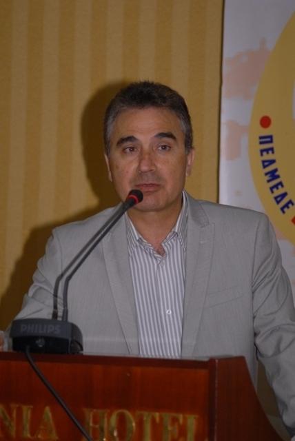 ο Αντ/δρος της ΠΕΣΕΔΕ και Γ.Γ. του ΣΠΕΔΕ Ηρακλείου κ. Σ. Μπελιμπασάκης