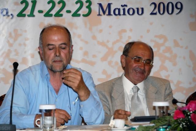 Ο πρόεδρος του Συνεδρίου κ. Κατσούλας με τον αντ/δρο του Συνεδρίου κ. Παναγόπουλο