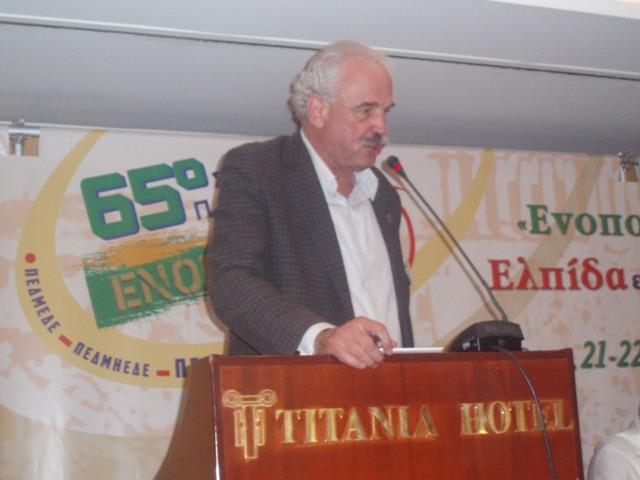 ο πρόεδρος της αντ/πίας ΤΕΕ/ΤΑΚ και μέλος μας κ. Ρ. Ποβάσκη