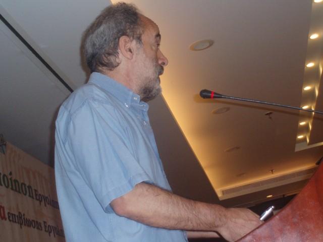 ο Πρόεδρος του ΤΕΕ κ. Γ. Αλαβάνος