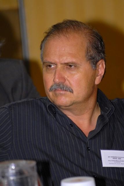 ο Πρόεδρος του ΣΠΕΔΕ Ηρακλείου κ. Αλέξ.  Κλάδος