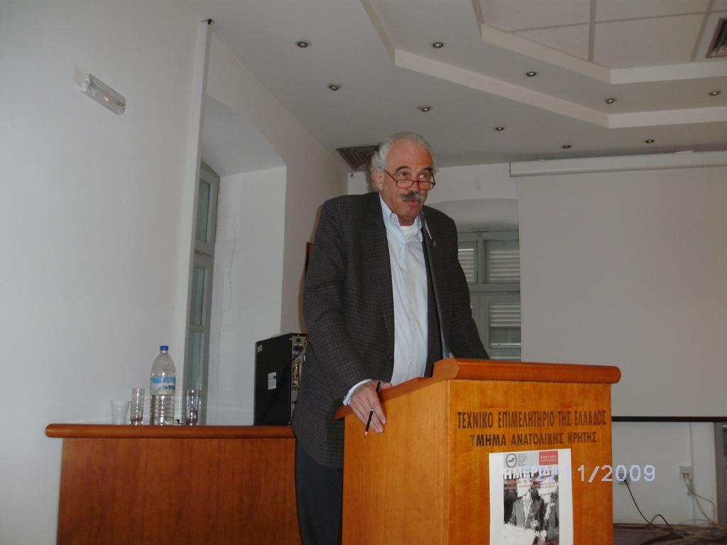 ο πρόεδρος της Αντ/πίας του ΤΕΕ/ΤΑΚ Ριχάρδος Ποβάσκη