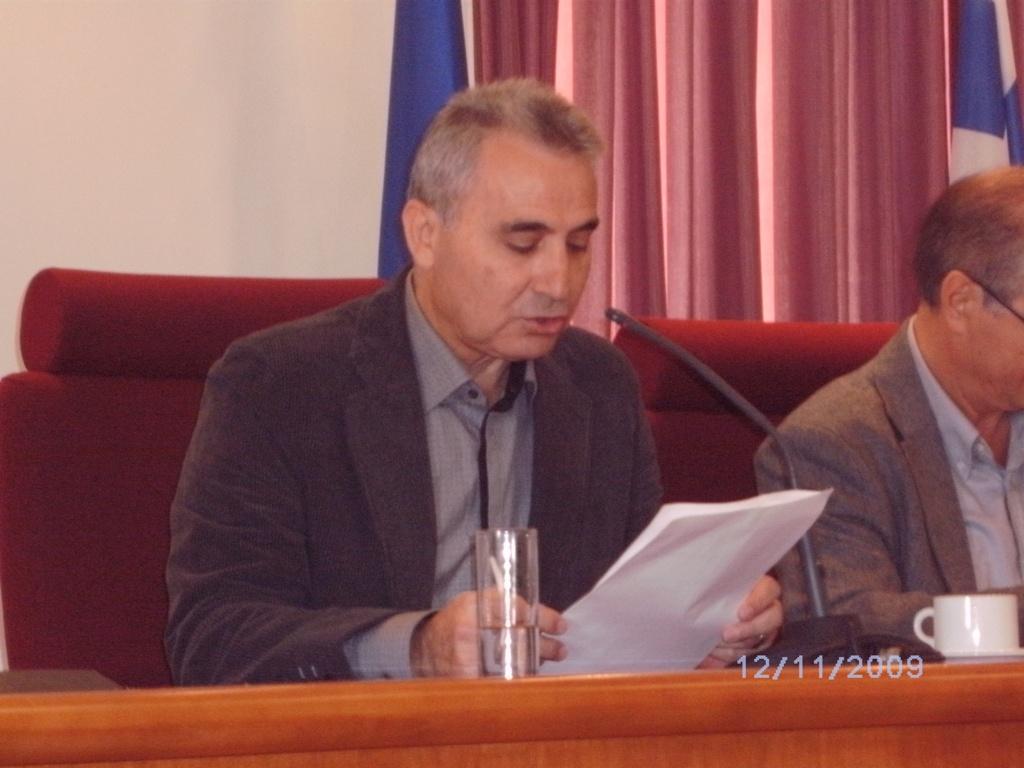 ο Γ. Γραμματέας του ΣΠΕΔΕΗ Στ. Μπελιμπασάκης